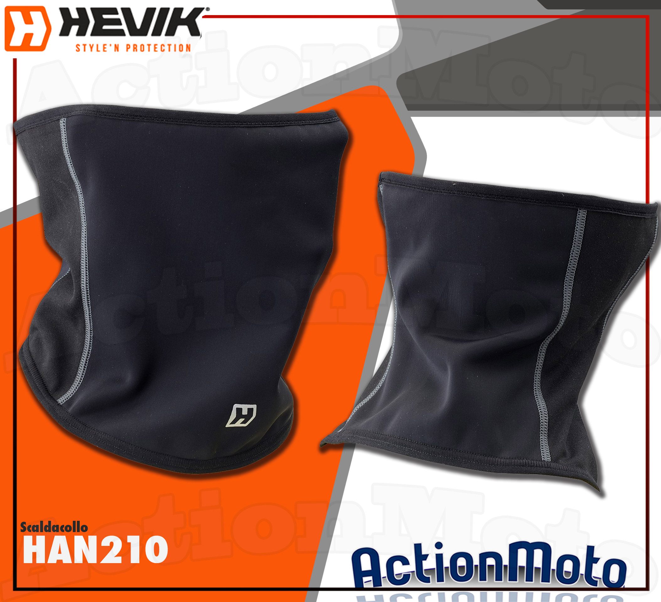 Copricollo scaldacollo antivento termico Hevik NECK WARMER HAN210 tecnico nero