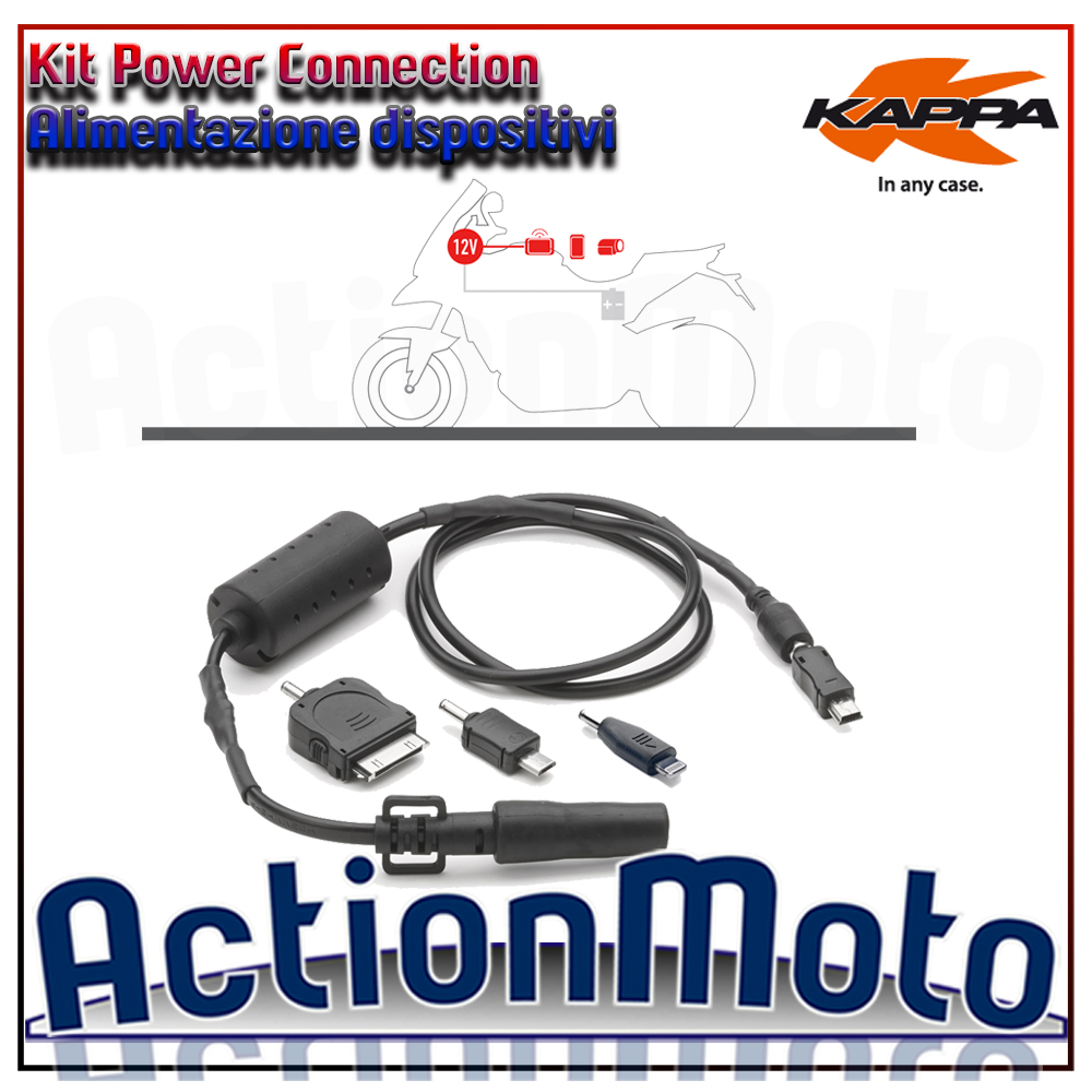 Kit Power Connection Kappa KS112 alimentazione dispositivi Usb manubrio borsa