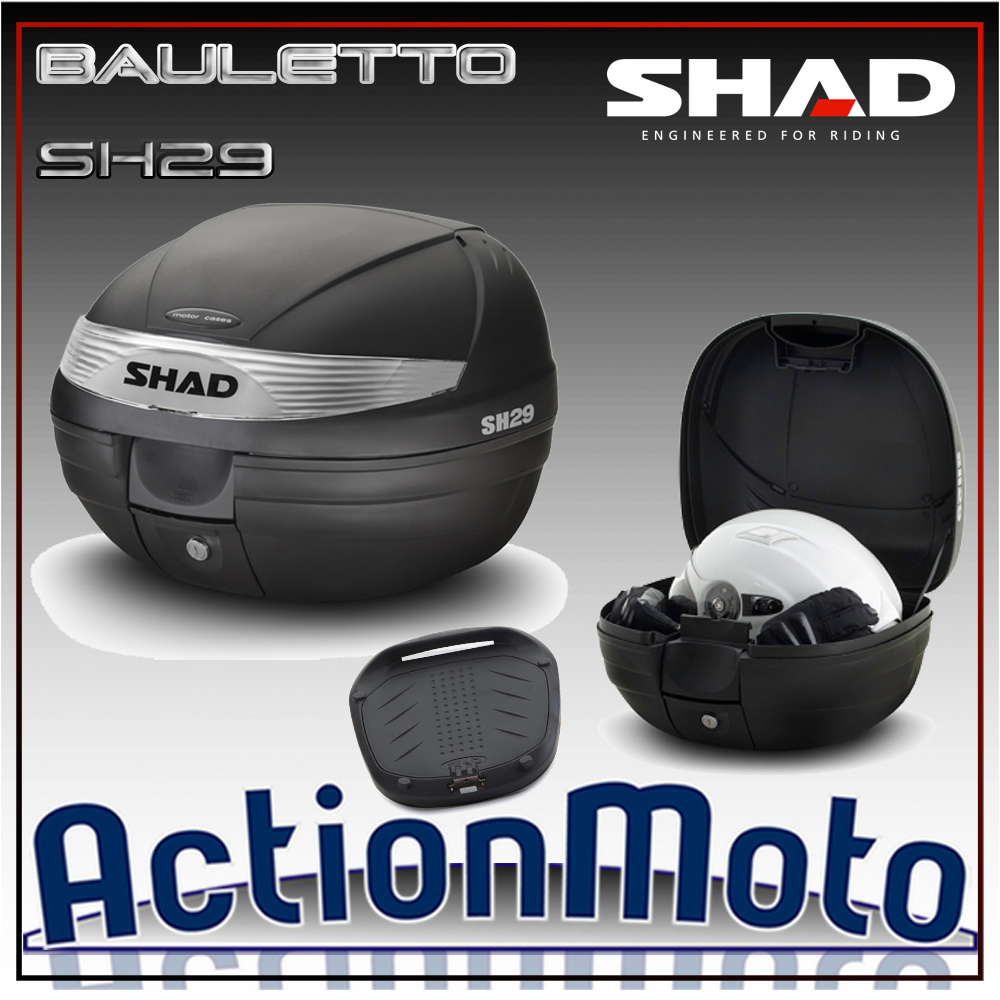 Bauletto top case Shad SH29 29 Litri Press Lock System moto scooter