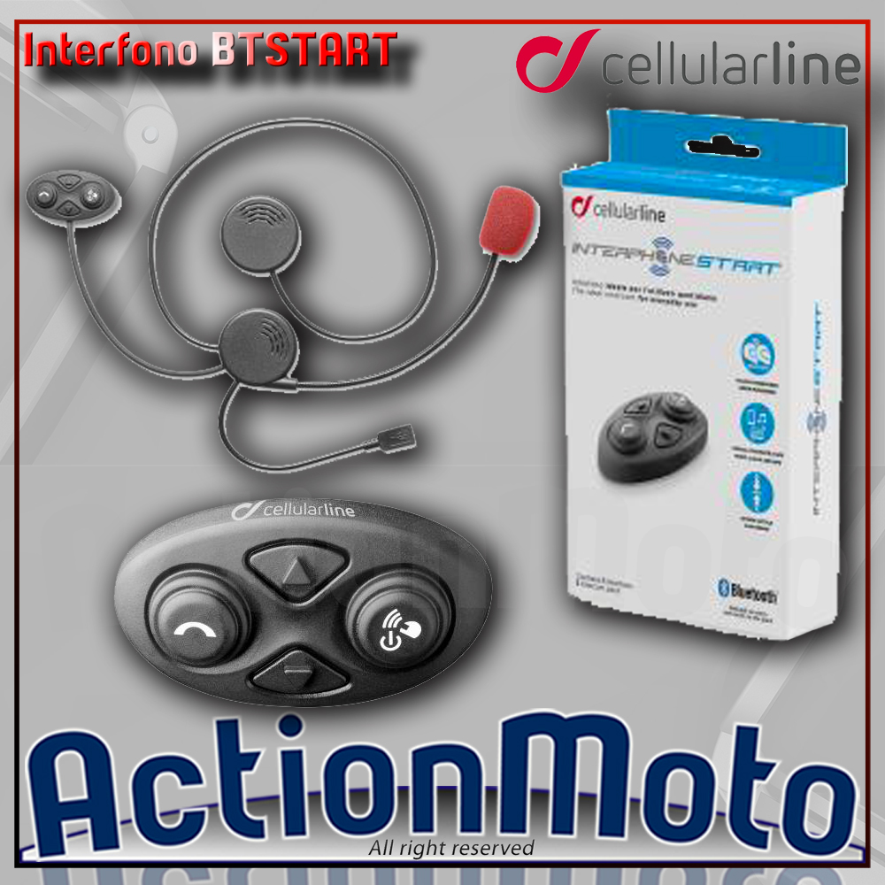 CELLULAR LINE INTERPHONE BTSTART INTERFONO MOTO SCOOTER BLUETOOTH