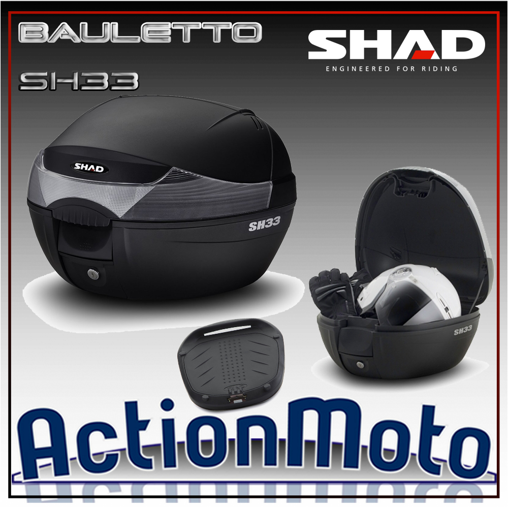 Bauletto top case Shad SH33 33 Litri Press Lock System moto scooter