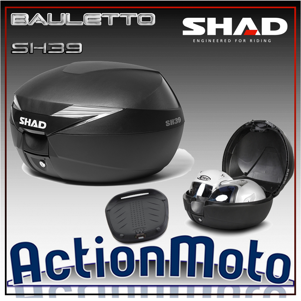 Bauletto top case Shad SH39 39 Litri Press Lock System moto scootr