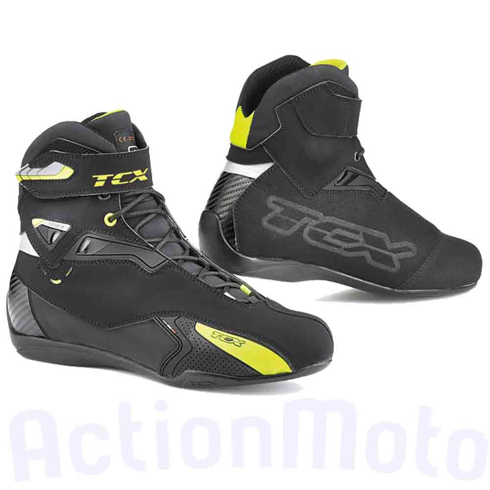 Stivali boots Tcx Rush Waterproof 9505W nero/giallo adventure moto Touring