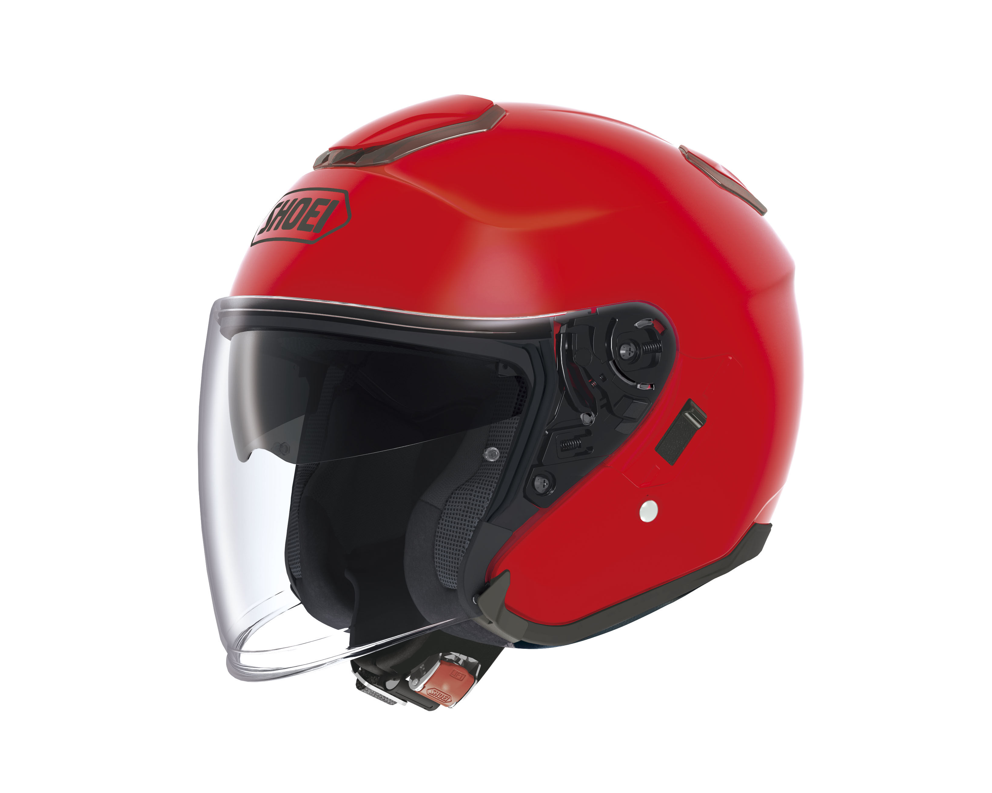 Casco Helmet Jet Shoei J-Cruise SHINE RED moto scooter