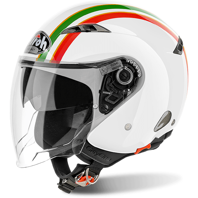 Casco Helmet Jet Airoh City One Style Gold Gloss moto scooter