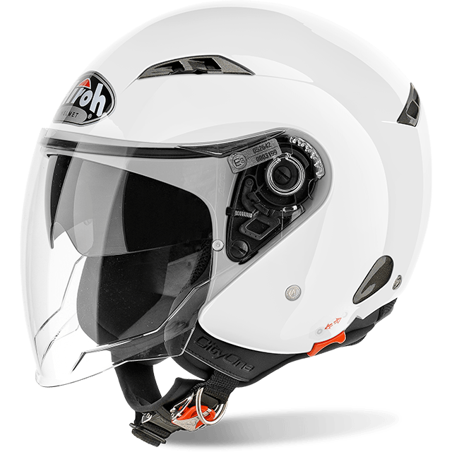 Casco Helmet Jet Airoh City One Color White Gloss Bianco moto scooter