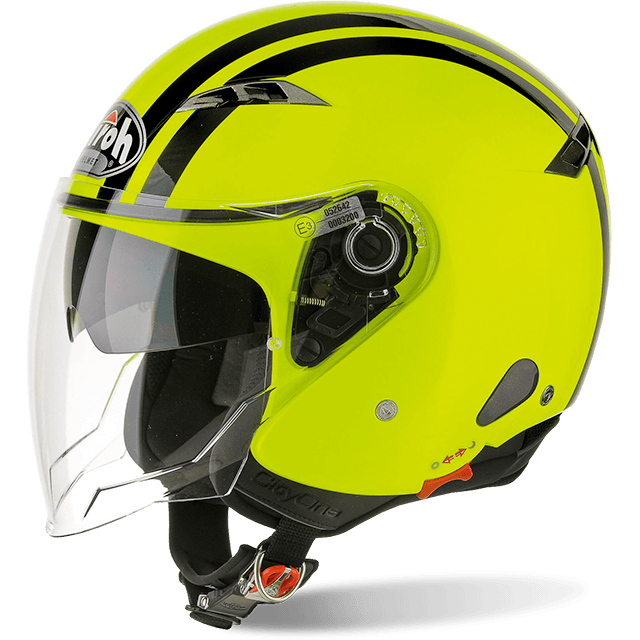 Casco Helmet Jet Airoh City One Flash Yellow Gloss Giallo Fluo moto scooter