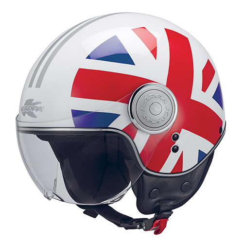 Casco Helmet Demi Jet Kappa KV8 NATIONAL UK Regno Unito Moto Scooter