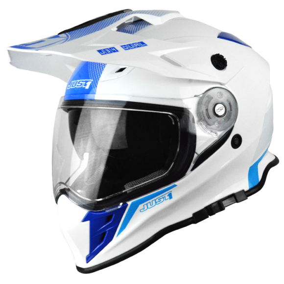 Casco moto touring tourer motard Just1 one J34 Shape Neon Blue enduro