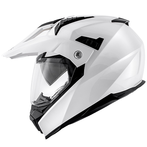 Casco Helmet Integrale Enduro Kappa KV30 ENDURO BASIC Bianco moto scooter