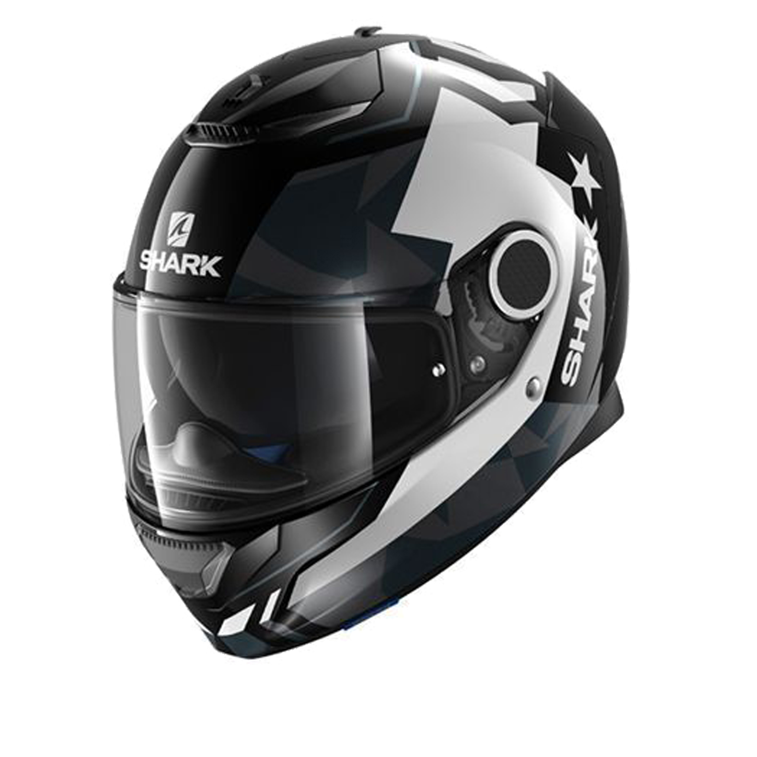 Casco Helmet Integrale Shark SPARTAN DROZE Black White Anthra moto scooter