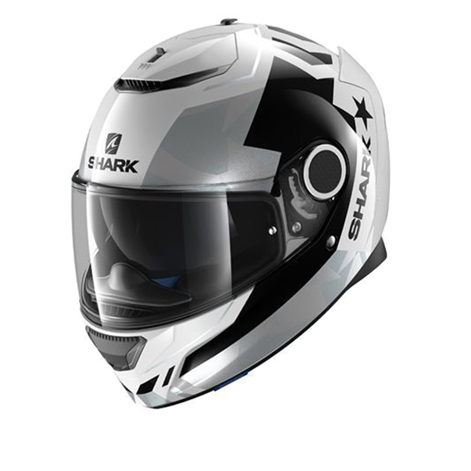 Casco Helmet Integrale Shark SPARTAN DROZE White black silver moto scooter