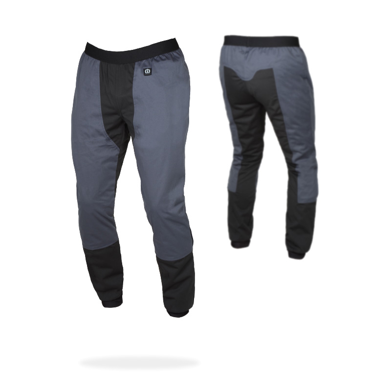 Pantaloni riscaldati moto Klan Heating Trousers K-DP-TRS-1000 Dual Power Grigio
