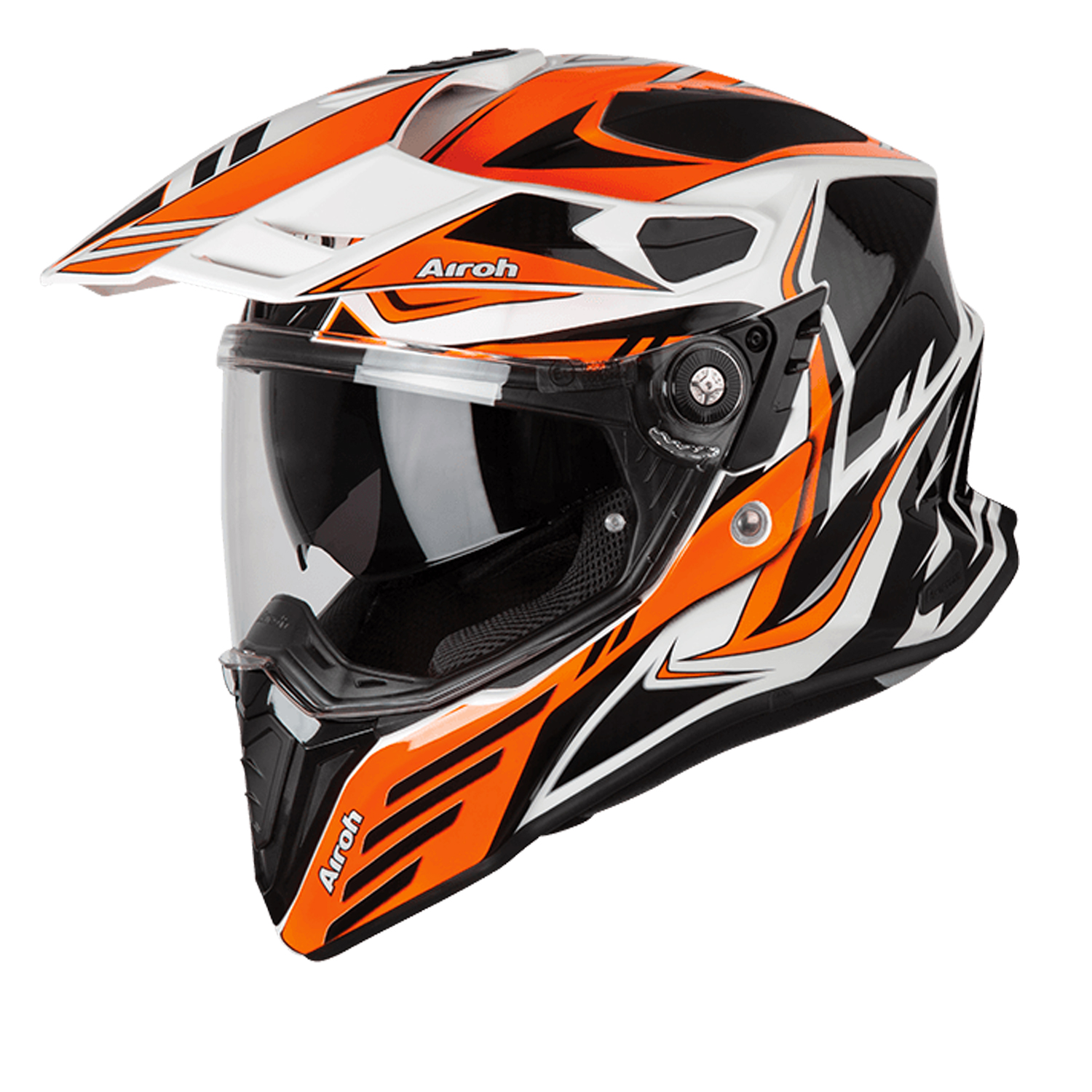 Casco helmet Airoh Full Face Integrale Commander Carbon Orange Gloss Enduro Tour