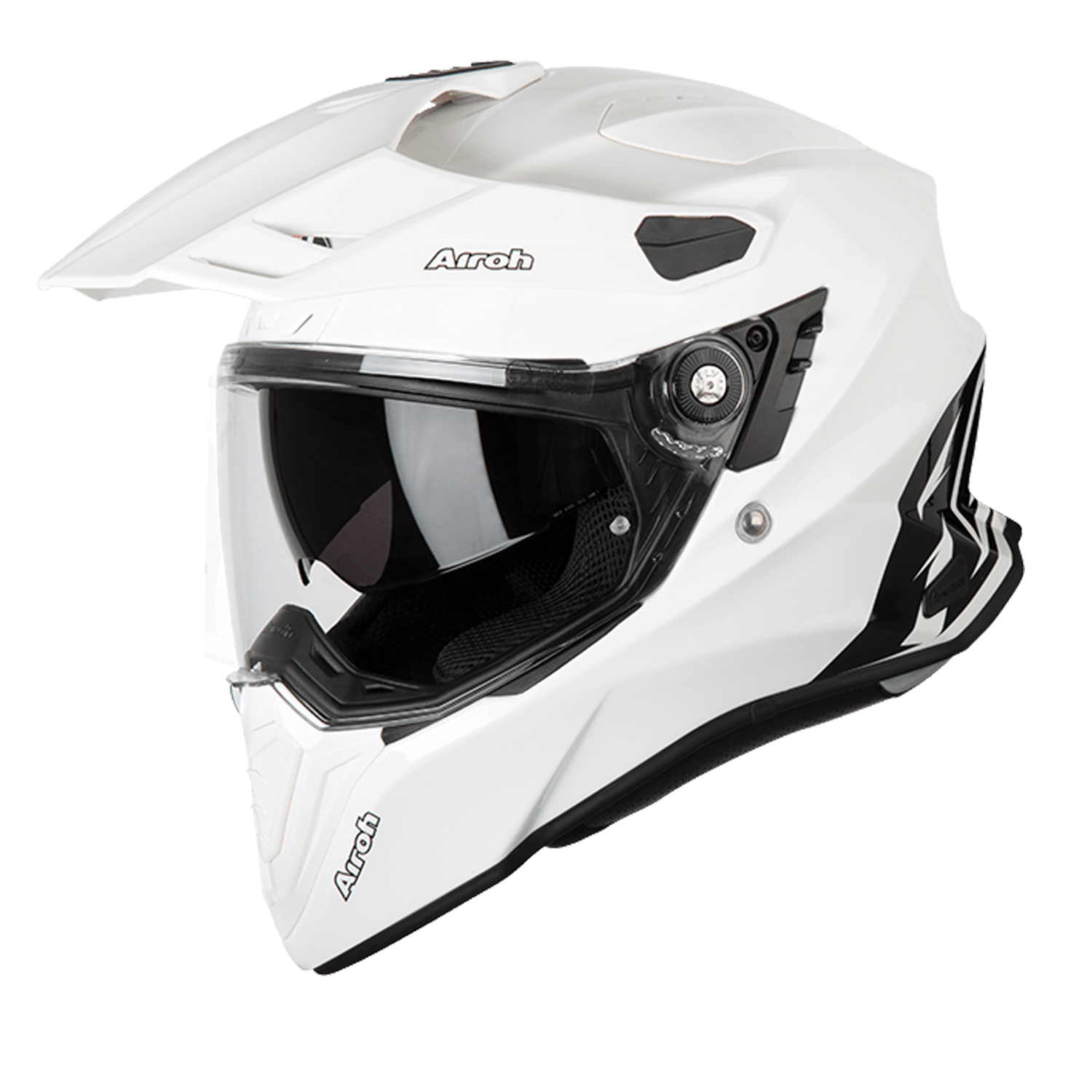 Casco helmet Airoh Full Face Integrale Commander Color White Gloss Enduro Tour