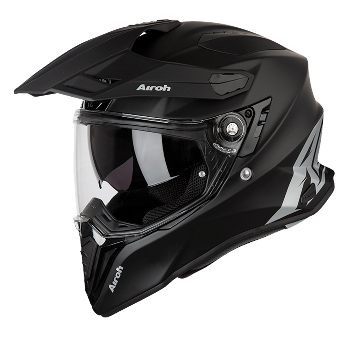 Casco helmet Airoh Full Face Integrale Commander Color Black Matt Enduro Touring