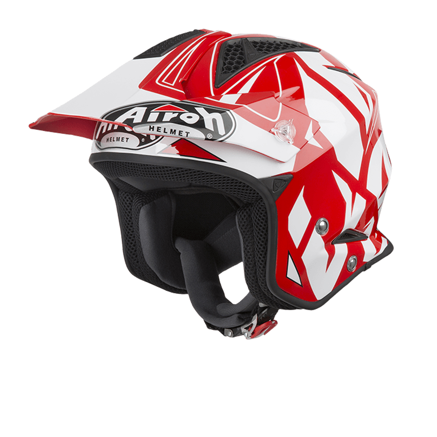 Casco Airoh  Jet TRR S Convert Rosso Bianco Lucido
