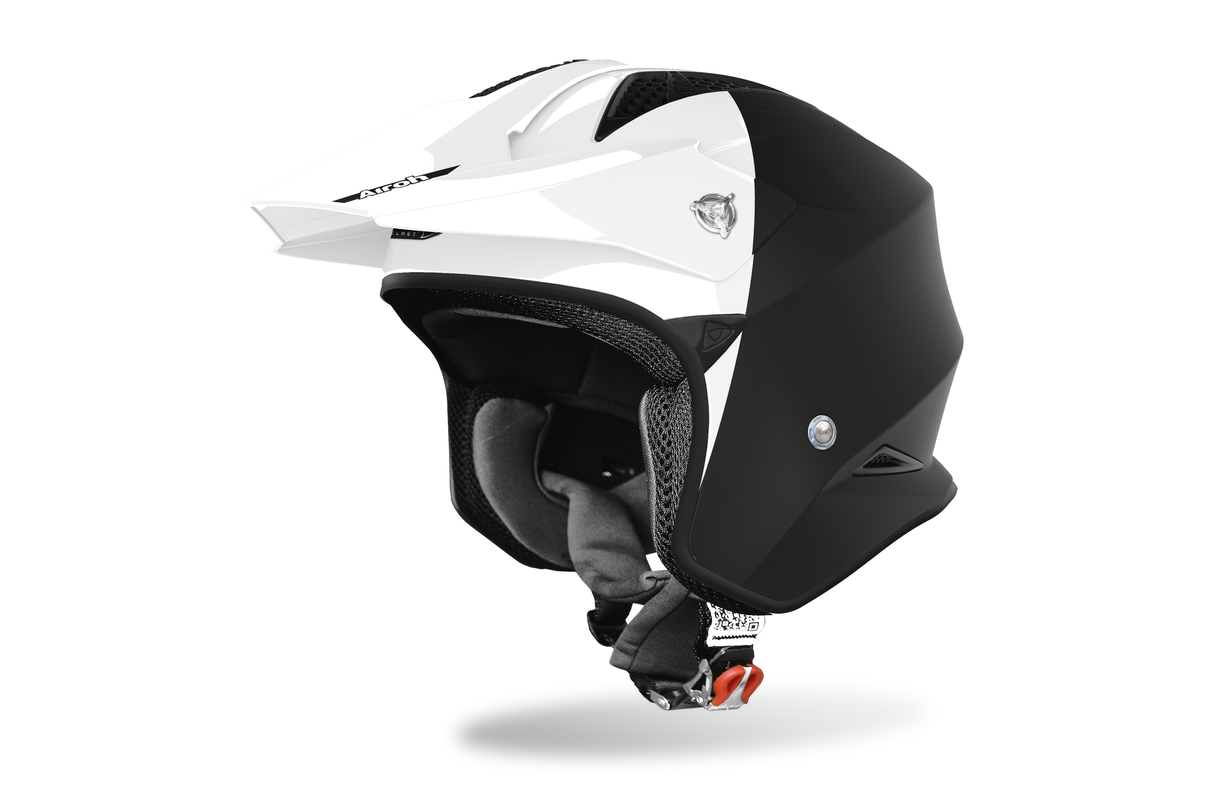 Airoh Casco TRR S TOWN Nero Bianco  Lucido\Opaco TRRST35