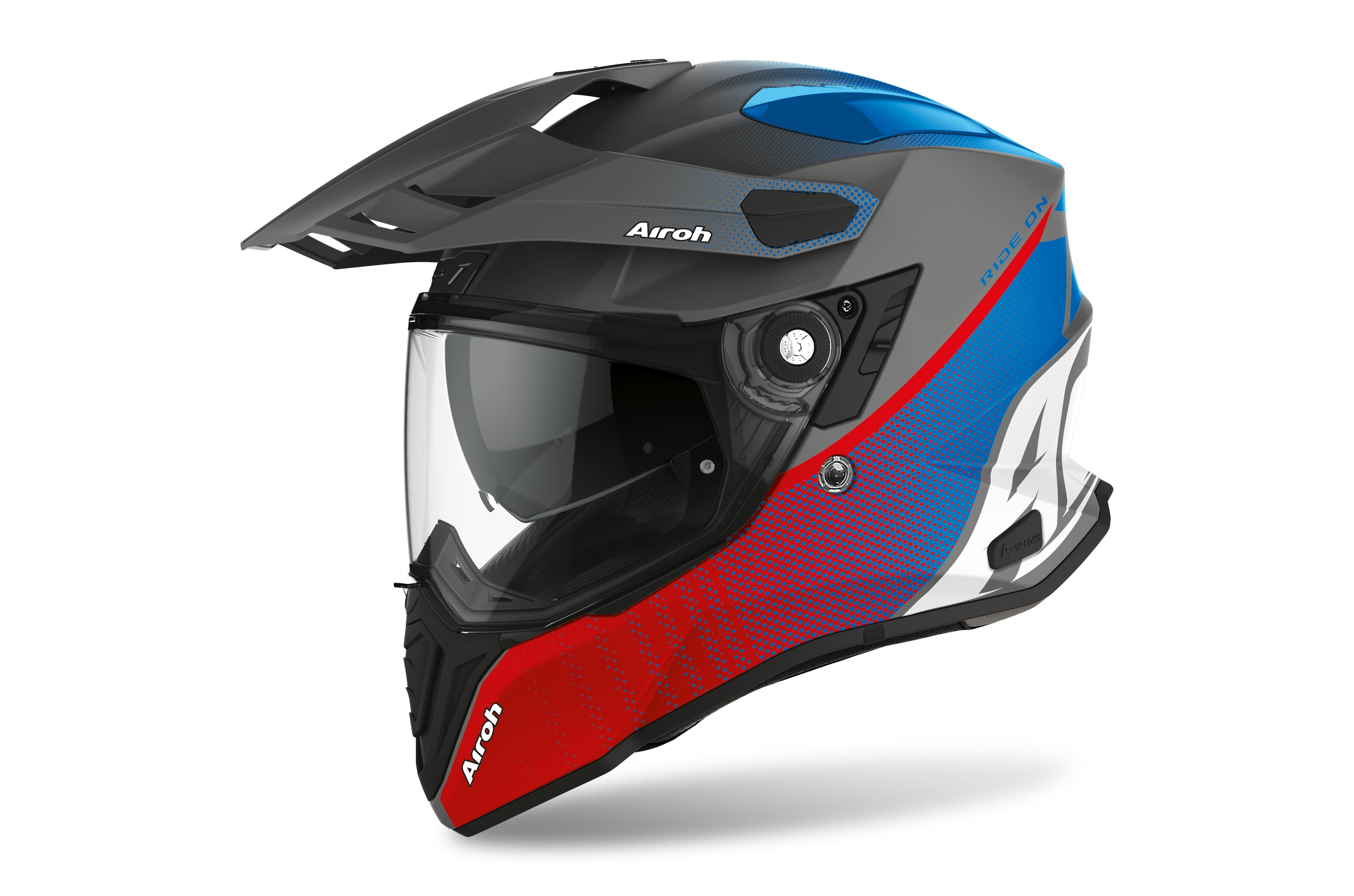 Airoh Casco Integrale COMMANDER PROGRESS Nero Blu Rosso Opaco CMP29