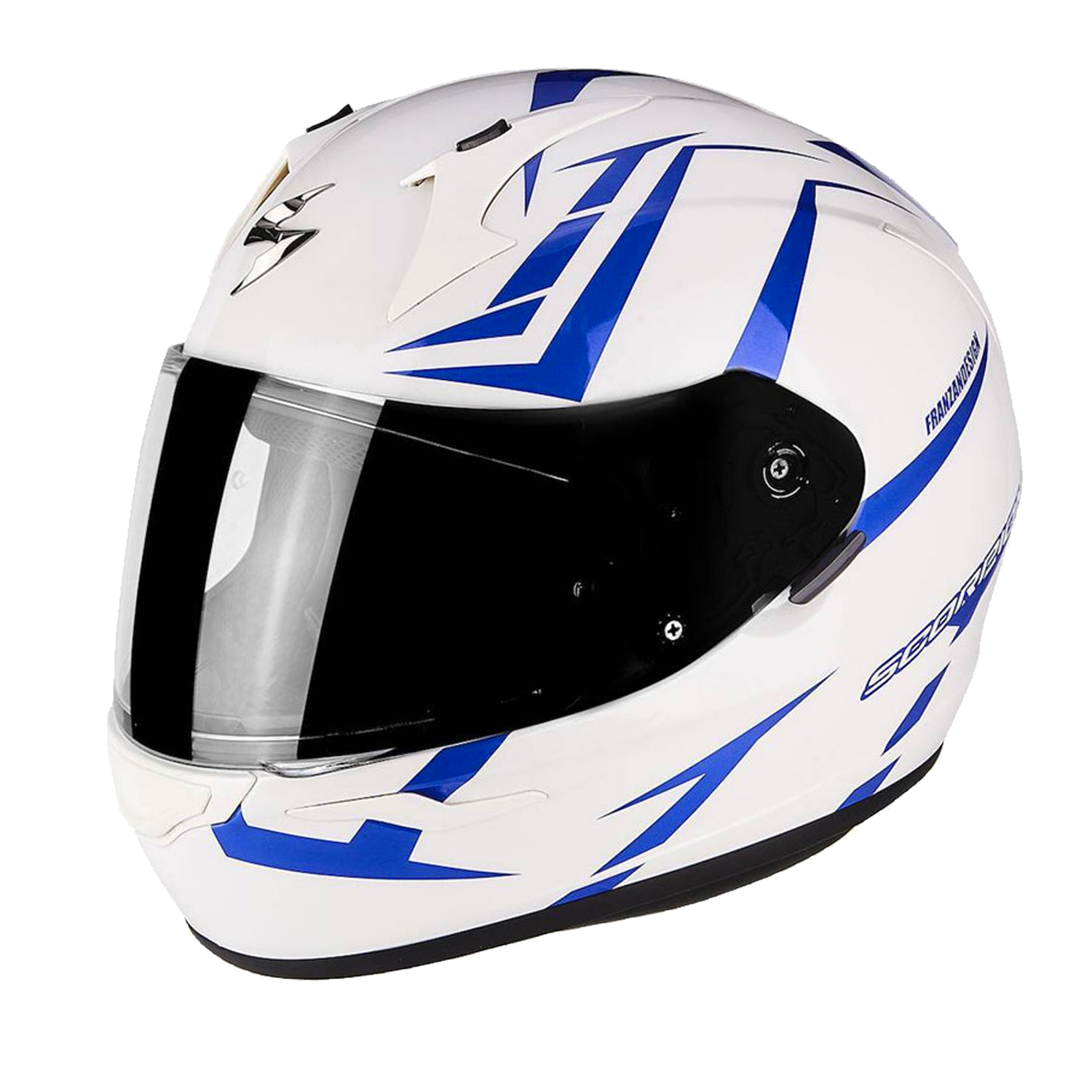 Casco Integrale Scorpion EXO 390 HAWK 39-264 Perla Bianco Blu