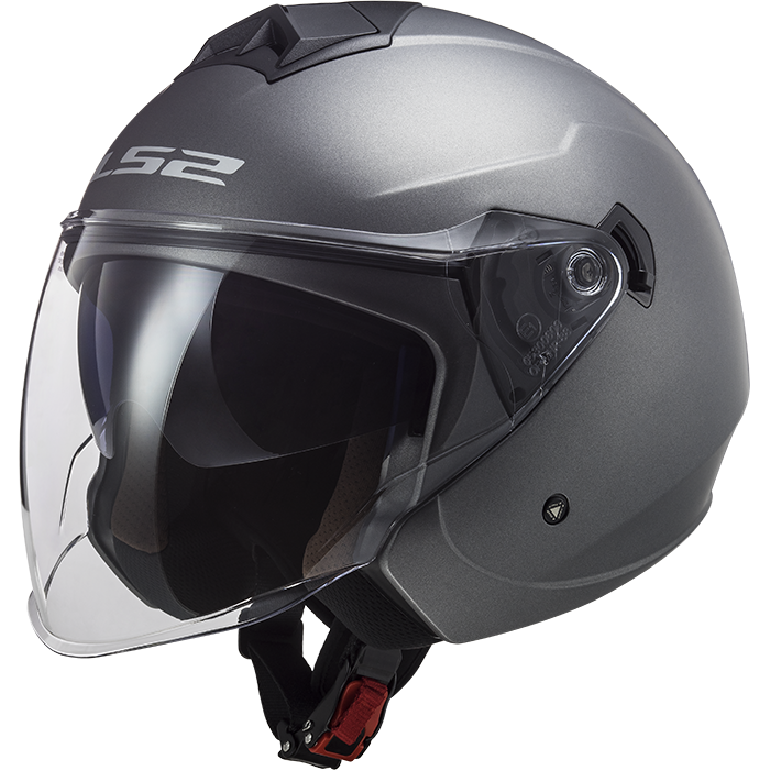 LS2 Casco Jet Twister II OF573 single mono Grigio Opaco