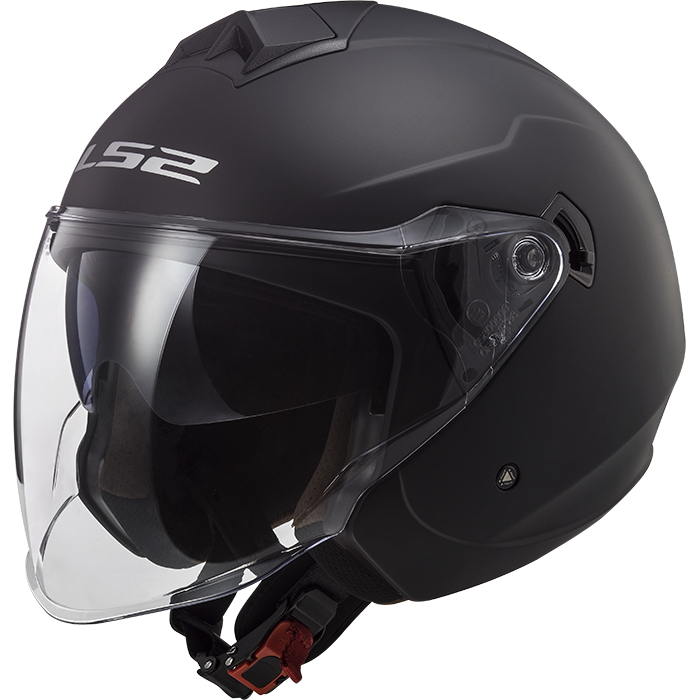 LS2 Casco Jet Twister II OF573 single mono Nero Opaco
