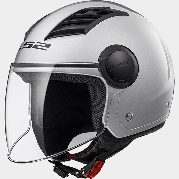 Casco Jet LS2 AIRFLOW Argento Lucido OF562