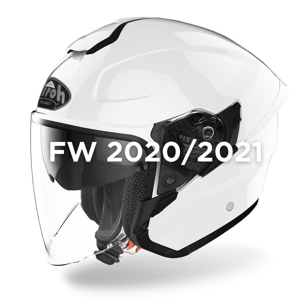Casco Jet AIROH H.20 White Gloss H214
