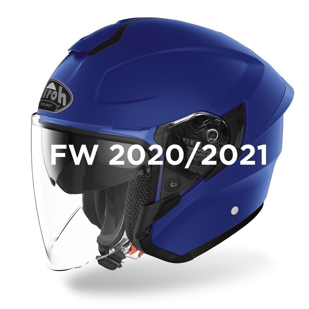 Casco Jet AIROH H.20 Blue Matt H219