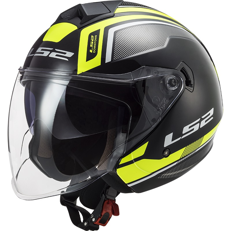 Casco Jet LS2 Twister 2 OF573 Flix Nero Giallo Neon Lucido