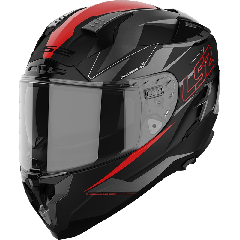 Casco integrale LS2 CHALLENGER FF327C Fold Red