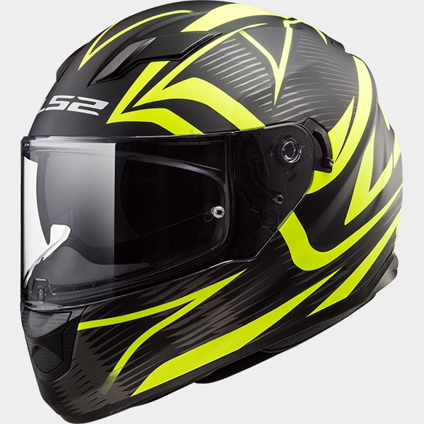 Casco Integrale LS2 STREAM EVO FF320 Jink Matt Black Yellow