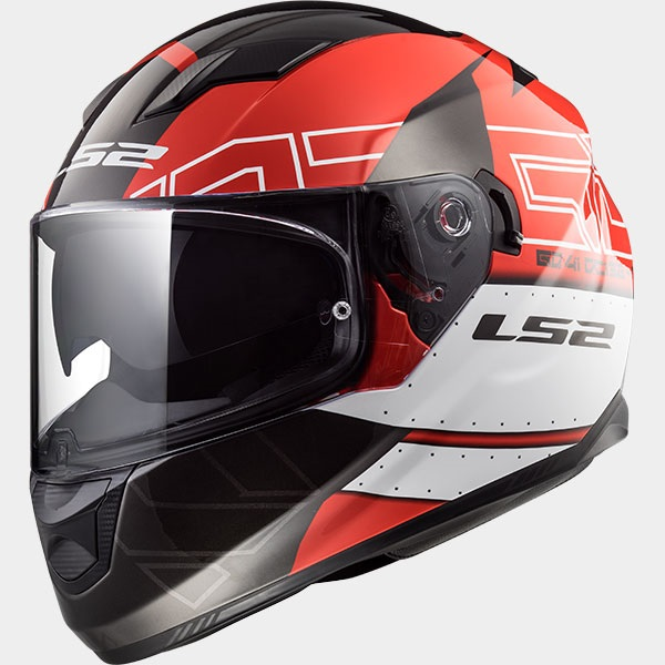 Casco Integrale LS2 STREAM EVO FF320 Kub Black Red