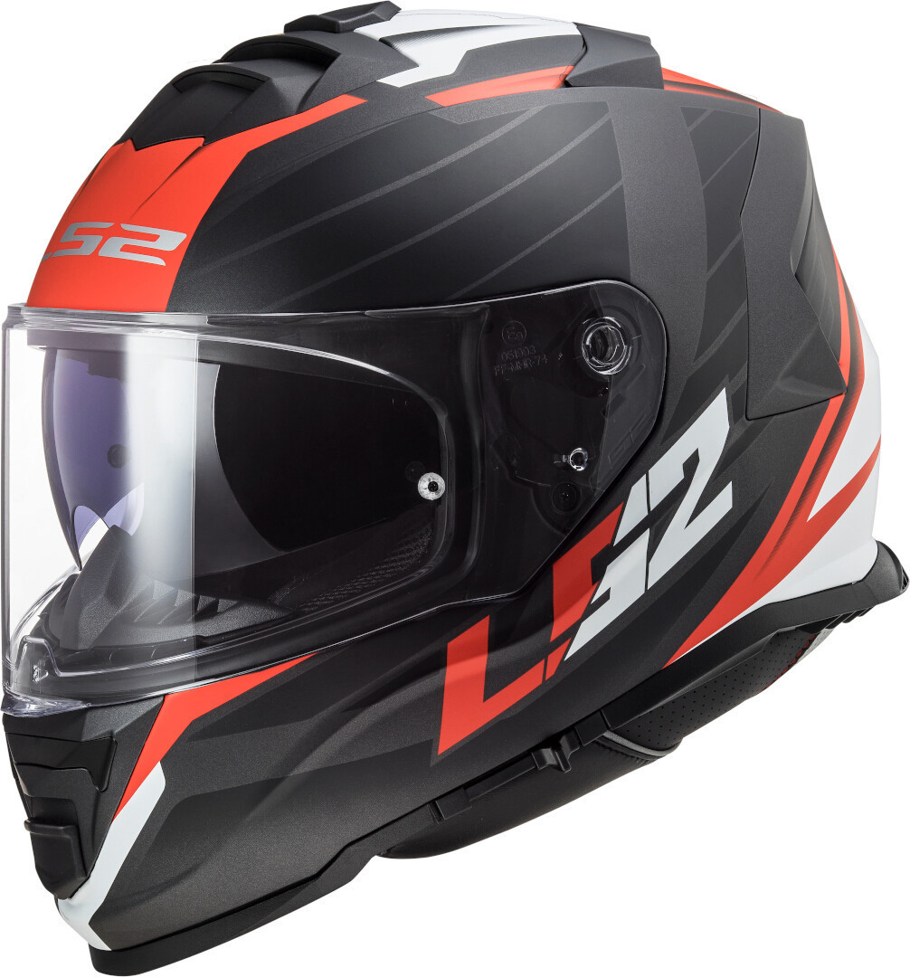 Casco Integrale LS2 Storm Nerve Matt Black Red FF800