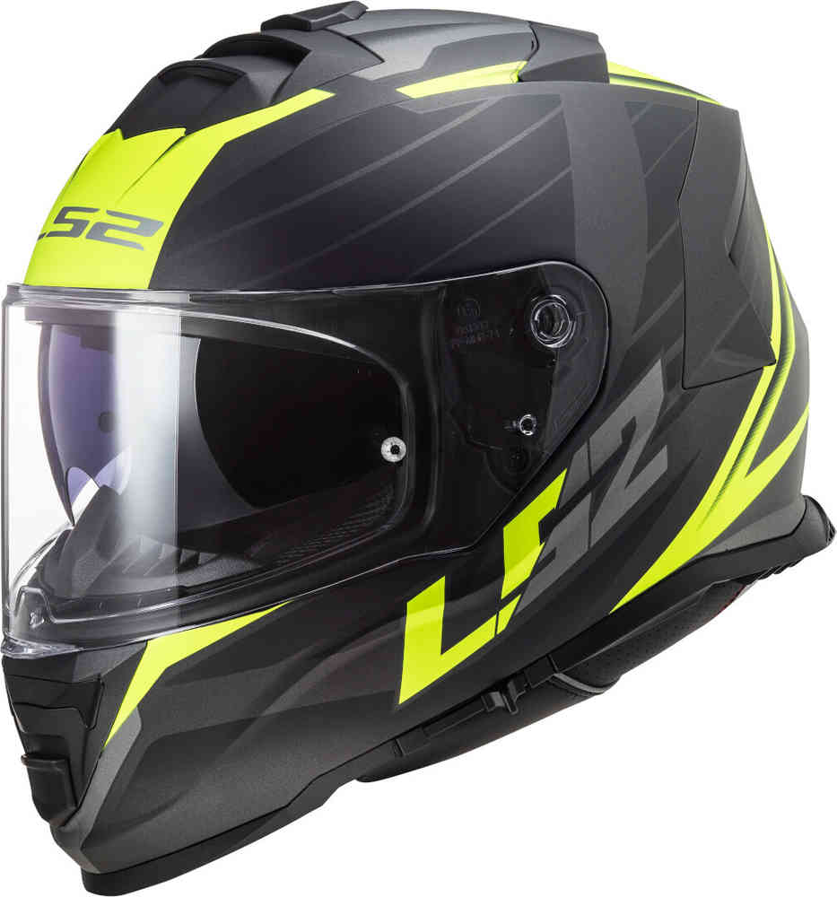 Casco Integrale LS2 Storm Nerve Matt Black H-V Yellow FF800