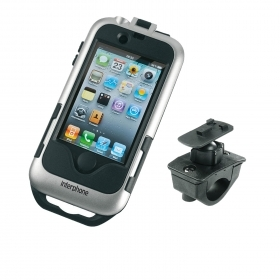 CELLULAR LINE SUPPORTO PORTA IPHONE 4 4s Argento SIlver MOTO Smiphone 4