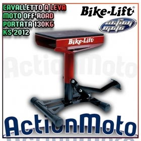 CAVALLETTO A LEVA MOTO OFF-ROAD CROSS MOTOCROSS Bike Lift KS-2012 PORTATA 130KG