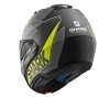 Casco Helmet Modulare SHARK EVO-ONE 2 KRONO Mat Black yellow white moto scooter