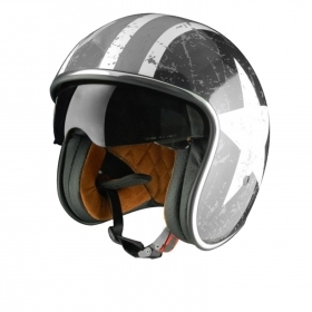 Casco casque Helmet Moto Scooter Jet Origine Sprint REBEL STAR GREY