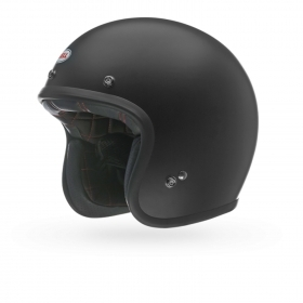 Casco Helmet Jet Bell Custom 500 Matt Black Cafe' Race moto scooter