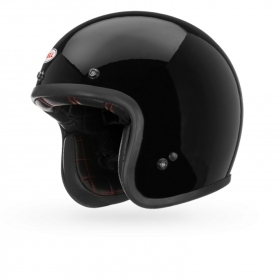 Casco Helmet Jet Bell Custom 500 Gloss Black Cafe' Race moto scooter