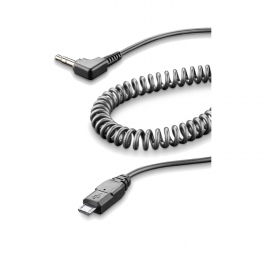 Cavo Spirale Aux Cellularline INTERPHOAUXCABLE Micro USB-Jack 3.5 mm Interphone