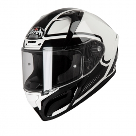 Casco helmet Airoh Full Face Integrale Valor Marshall White Gloss Racing Touring