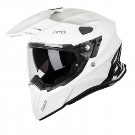 Casco Airoh Integrale Commander White Gloss CM14