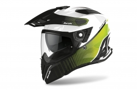 Airoh Casco Integrale COMMANDER PROGRESS Giallo Lime Lucido CMP33