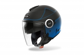 Casco Airoh Jet HELIOS MAP Blu