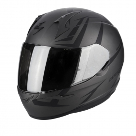 Casco Integrale Scorpion EXO 390 HAWK 39-264 Nero Opaco Argento