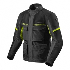 Giacca Rev'it Moto Touring OUTBACK 3 Nero Giallo Neon