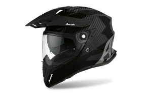 Casco AIROH COMMANDER FULL CARBON GLOSS Nero CM99