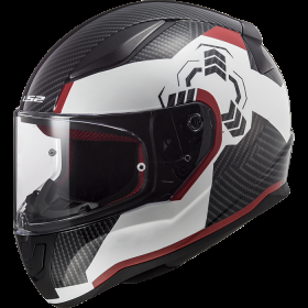 LS2 Casco Integrale Rapid Ghost Bianco con Grafica